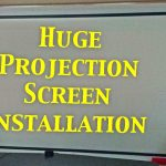 Home Theater with projection screen in St. Mary's County